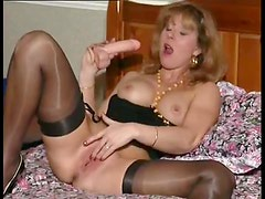 Excited British milf in her solo scene