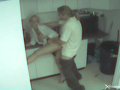 Couple caught fucking in the office break room