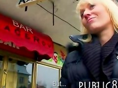 Euro gambler Laura stuffed good and facialed in public toilet