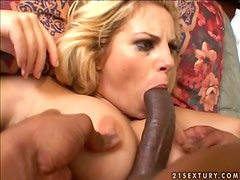 Friday is a blondie who gets naked with black men  only