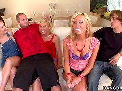 Smoking hot adorable blonde babes Victoria White and Ally Kay