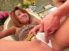 Sakura Sakurada enjoys vibro egg between her legs