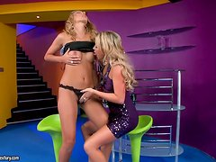 Cindy Hope and Natalia Forrest moans sweetly while eating each other's vags