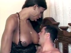 Handsome dude is sucking shemale Suzanna Holmes' dick