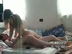 Sexy Brunette Hair Ex Girlfriend Riding On Shlong