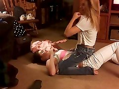 Sexy Teen Babes Wrestling