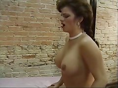 Sexy hoe in thin top getting toy bumped