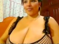huge tits huge ass bbw latina in stockings on webcam