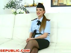 Officer Violet Moon Gangabanged and Fucked Double Anal