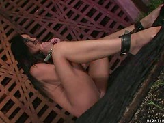 Alma Banks gets her snatch fucked by lewd mistress Sabrina Sweet