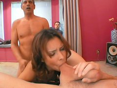 Milf - Aroused pervert watching sizzling milf Nataly Rosa getting double fucked