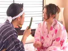 Sexy Shiori Misaki gives a blowjob and gets toyed