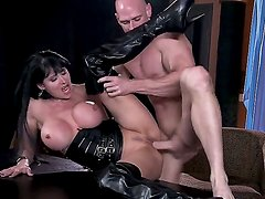 Busty slut Eva Karera having intense pelasure with hunk Johnny Sins in dirty hardcore