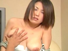 Ugly Japanese skank Minayo Okamoto is pleasured before the passionate sex