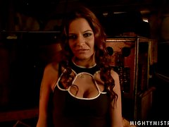 Asley gets tied up and fucked by lewd mistress Mandy Bright