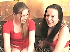 Kinky pale Sofia invites her whorish friend for eating her wet juicy pussy