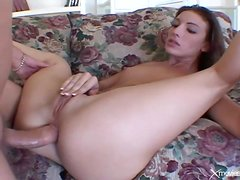 Sexy BJ gets this skinny girl laid in the ass