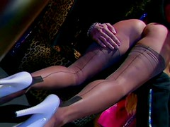 Naughty pole dancer Zora Banks enjoys getting spanked and whipped