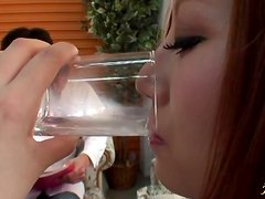 Nana Usami gets her mouth filled with jizz