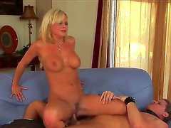 Bewitching and hardcore-addicted blonde Bree Olson fucking her own long haired male slave