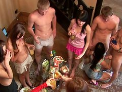 Crazy orgy in a country house