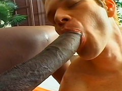 Huge dick of tranny milf Suzanna Holmes is juicy for this white guy