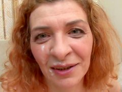 Curly babe with nice face Yuki Tsukamoto rides on the dick