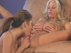 Milf brings a teenage girl home to lick