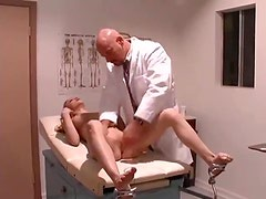 Doctor - Doctor nails his young shaved patient