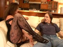 Cuddly brunette whore Venus gets her appetizing pussy tongue fucked
