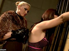 Sexy prisoner Ginna gets tortured and fucked by Kathia Nobili
