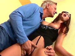 Abuelo - Horny grandpa Christoph Clark is delighting young Kattie Gold with zealous anal fingering