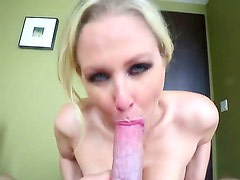 Julia Ann got huge juggs and she likes to feel big dicks between them. Today she