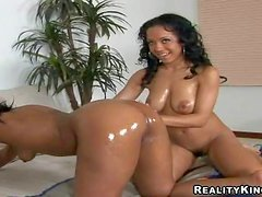 Young hot ass ebony Misti Love with natural boobies and