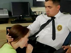 Security guard gets a surprise teen fuck
