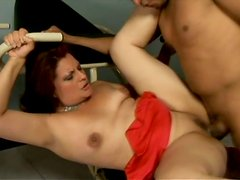 Spoiled fat bitch Suelen Monteiro gets her mouth drilled hard