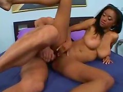 Skinny black girl with big naturals nailed