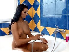 Exotic siren is feeling alone in the shower