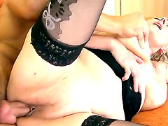 Horny cock craving granny Sila loves the sweet intense pleasure of a huge young cock deep in her