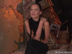 Mandy Bright ties Regina Moon up before drilling her vag with a dildo