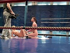 Angel Rivas prefers to dominate and today she fighting with her lesbian friend, Niky Gold. Moreover,