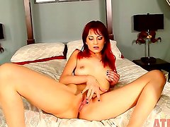 Phoenix Askani demonstrates her awesome forms for you and plays with her favorite dildo. Even