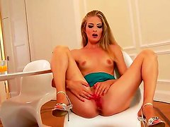Hot Cayenne Klein is a long leged diva with blond hair and wet pussy. She is playing