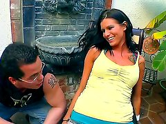 Geek boy in glasses has huge crash on busty brunette Sea J. Raw. Will he ever be able to
