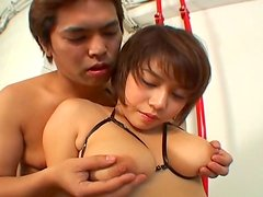Japanese girl Mai Haruna gets her  jugs fondled