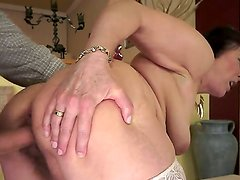 Old horny woman Margo loves sucking a young