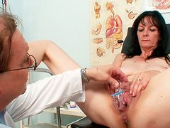 Too spoiled and voracious woman Venuse plugs a dildo into her wet cunt