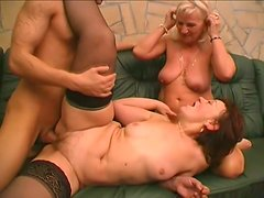 Voracious grannies Remy and Paula are fucking feisty in a hot threesome