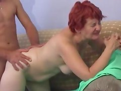 Mature redhead with shaved box pounded