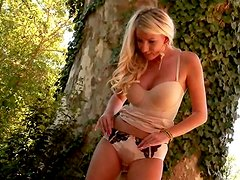 If you like to watch delicious blondie peeing in her panties